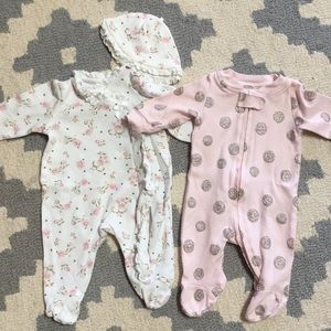 Newborn footie onesies